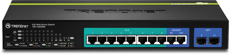 Trendnet TPE-1020WS - 10-Port Gigabit Web Smart PoE+ Switch