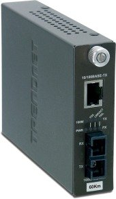 TRENDnet TFC-110S60I -  Intelligent 10/100Base-TX to 100Base-FX Single Mode SC Fibre Converter