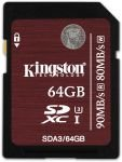 Kingston Technology 64GB SDXC UHS-i Speed Class 3 Flash Card