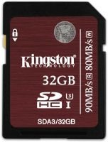 Kingston 32GB SDHC UHS-I Speed Class 3 Flash Card