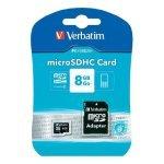 Verbatim Micro SDHC Class 10 8GB +Adaptor Memory Card