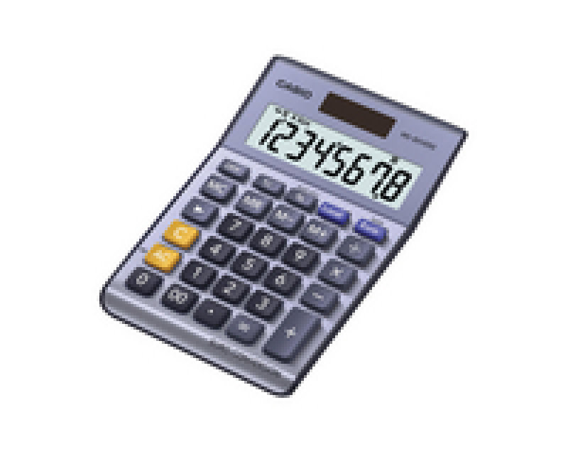 Casio 8Digit Calculator Silver