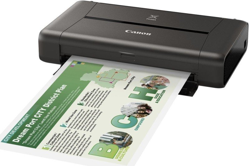 Image of Canon PIXMA iP110 Photo Printer with battery