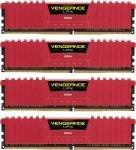 Corsair Vengeance Lpx Red 32gb Kit (4x8gb) Ddr4 2666mhz Standard Dimm