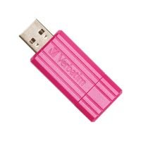 Verbatim 16GB PinStripe USB 2.0 Flash Drive ( Hot Pink)