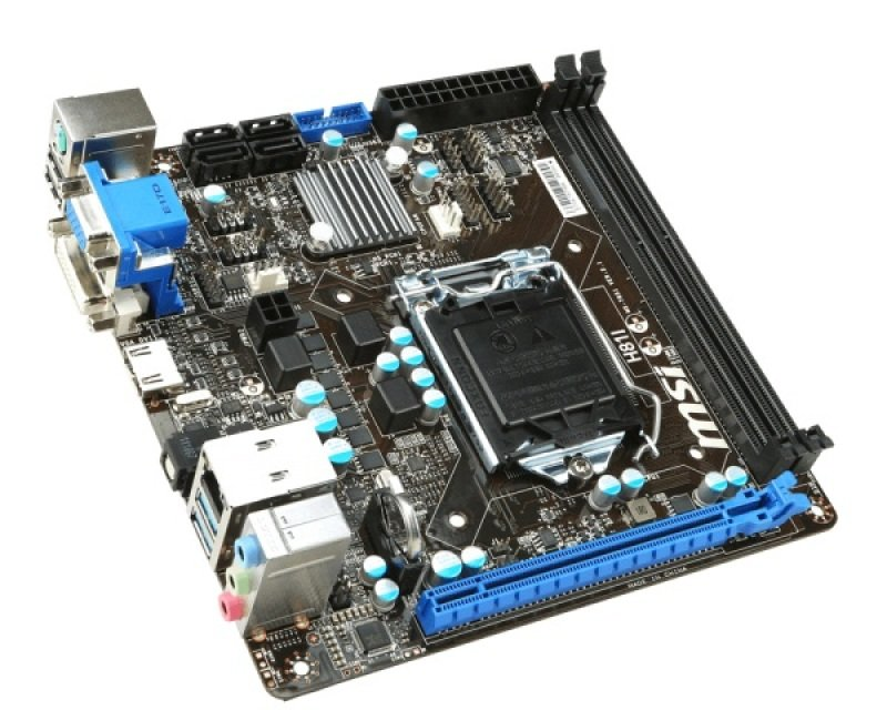 MSI H81I Socket 1150 VGA DVI HDMI 8 Channel Audio Mini-ITX Motherboard