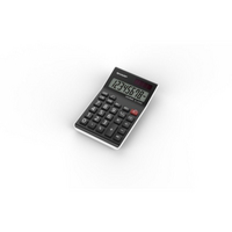 Sharp Black Semi-Desktop Calculator
