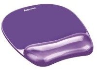 Fellowes Crystal Purple Mousepad & Wrist Rest
