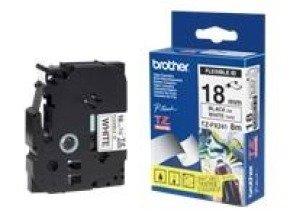 Brother TZe FX241 Flexible Tape - black on white