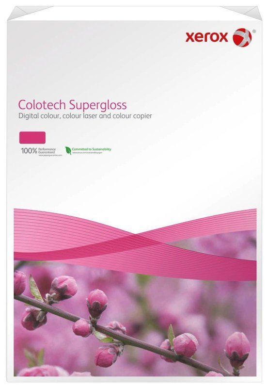 Image of Xerox Colotech+ Supergloss A3 210gsm Glossy Laser Printer Paper - 125 Sheets