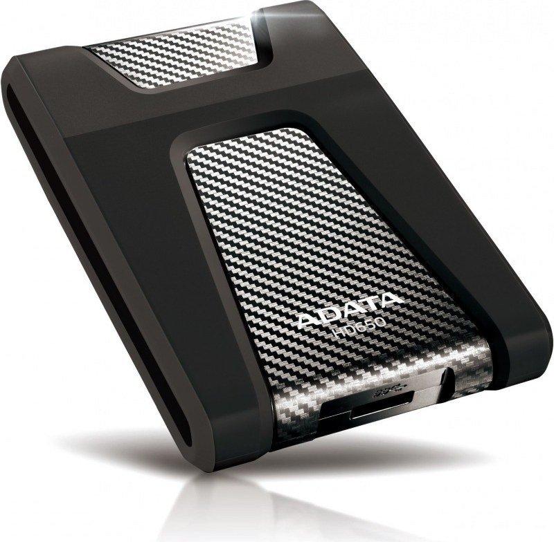 Image of ADATA DashDrive Durable HD650 (500GB) External USB 3.0 Hard Disk Drive (Black)