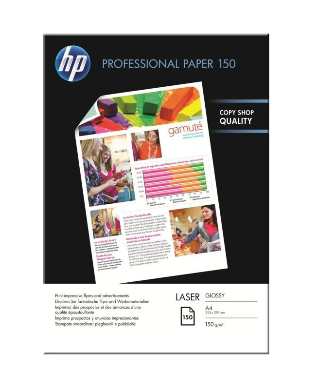 Image of HP Professional A4 150gsm Glossy Laser Printer Paper- 150 Sheets