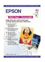 Epson Heavyweight A3 167gsm Bright White Matte Photo Paper - 50 Sheets