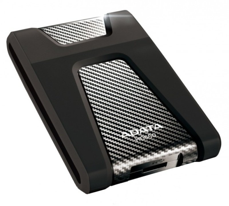 Image of ADATA DashDrive Durable HD650 (1TB) External USB 3.0 Hard Disk Drive (Black)