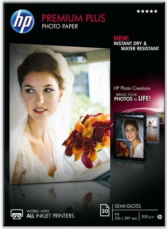 Image of *HP Premium Plus A4 300gsm Semi-gloss Photo Paper 20 Sheets
