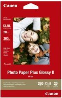 "Canon Plus II PP-201 5""x7"" 260gsm Glossy Photo Paper - 20 sheets"