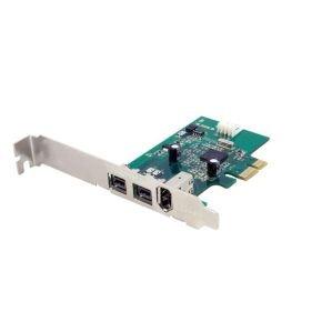 StarTech.com 3 Port 2b 1a 1394 PCI Express FireWire Card Adapter - 1394 FW PCIe FireWire 800 / 400 Card