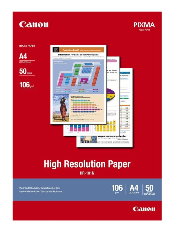 Canon HR-101N A4 106gsm High Resolution Paper - 50 sheets