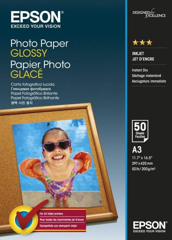 Epson A3 200gsm Glossy Photo Paper  50 sheets