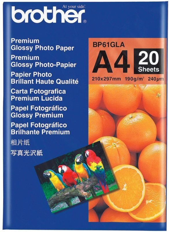 Brother Premium A4 190gsm Glossy Photo Paper  20 Sheets