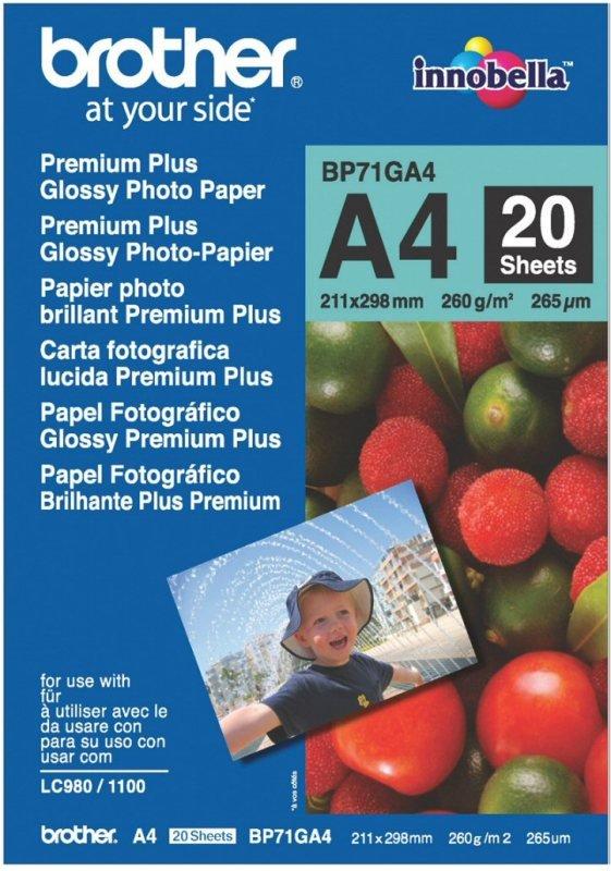 Brother Innobella Premium Plus A4 260gsm Glossy photo paper - 20 sheets