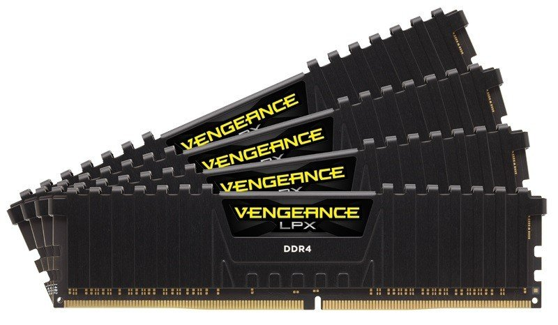 Corsair Vengeance LPX Black 16GB Kit (4x4GB) DDR4 2133mhz 1.20v Standard Dimm