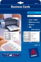 Avery Quick&Clean 85x54mm Matte Laser Business Card - 250 Pack