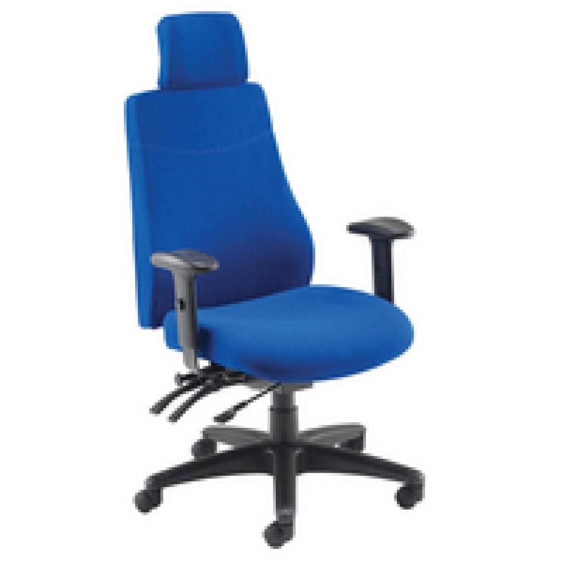 Image of Avior Elbrus High Back Operator Chair Blue