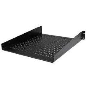 2u 22in Vented Rack Mount Shelf     Fixed Server Rack Cabinet Shelf - 50lbs / 22kg