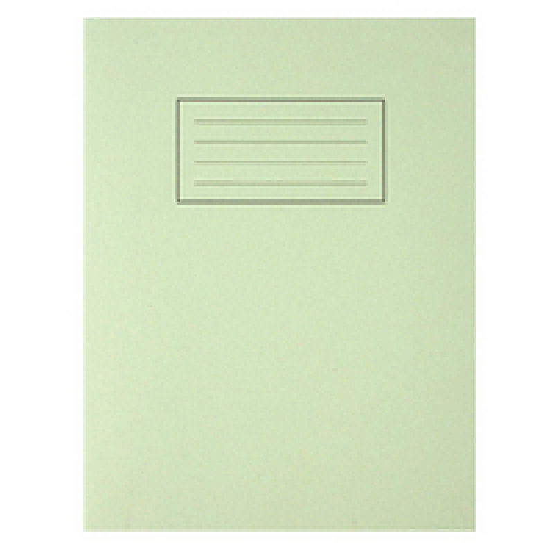 Silvine 9x7 Exercise Book 80pp Feint And Margin Green