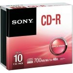 Sony CD-R 700MB 48x Discs - 10 Pack Slim Case