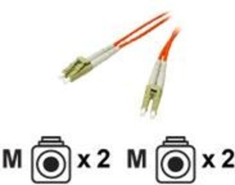 C2G, LC/LC LSZH Duplex 50/125 Multimode Fibre Patch Cable, 2m