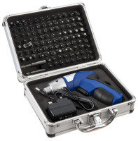 Xenta 3.6V Lithium-ion Cordless Screwdriver with 104 Piece Accessory Kit
