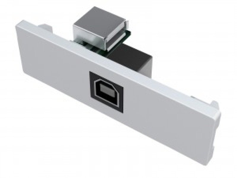 Image of Vision Techconnect V2 Module Usb B (on Front) To A Active Booster Usb 2.0 This Has An A Type Socket On The Rear As Found On A Laptop Chassis, And A B Type Socket On The Front. Active Circuit Uses 5v Carried On Usb To Boost Signal. For Longer Usb Cables P