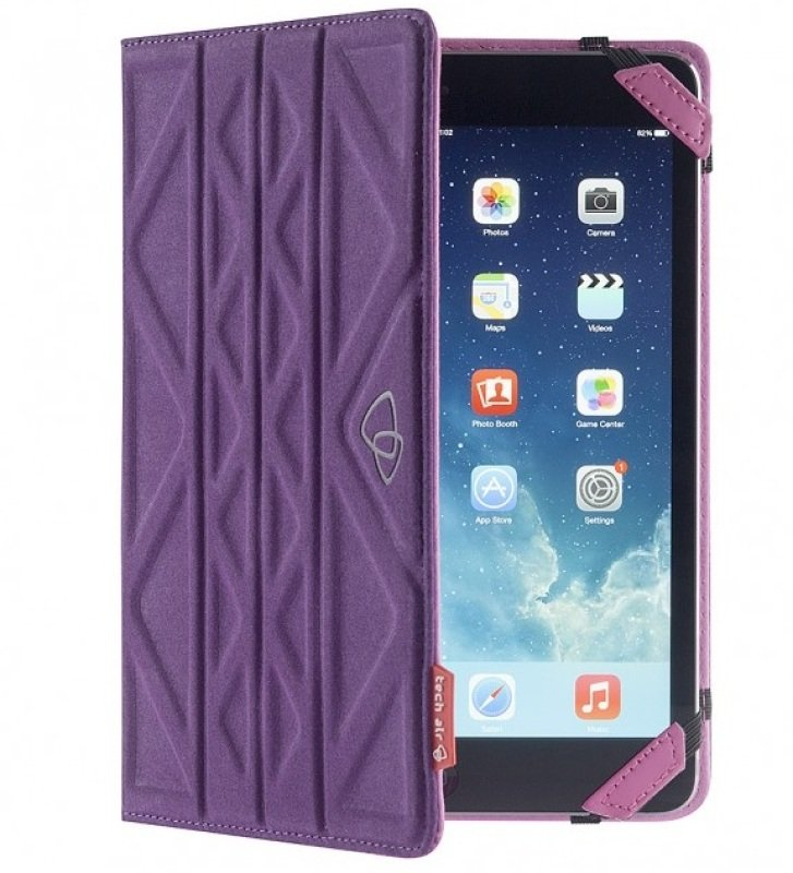 Image of Techair 7 Flip & Reverse Universal Tablet Case In Pink/purple - Taxut022