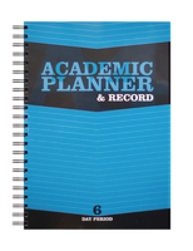 Silvine Acad Plan/rec Bk 6p Wb Poly Blue