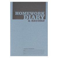 Silvine Homework Diary A5 Blue Ex204