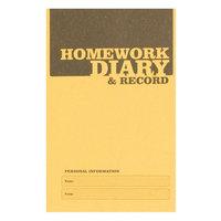 Silvine Homework Diary A6 Yellow Ex205