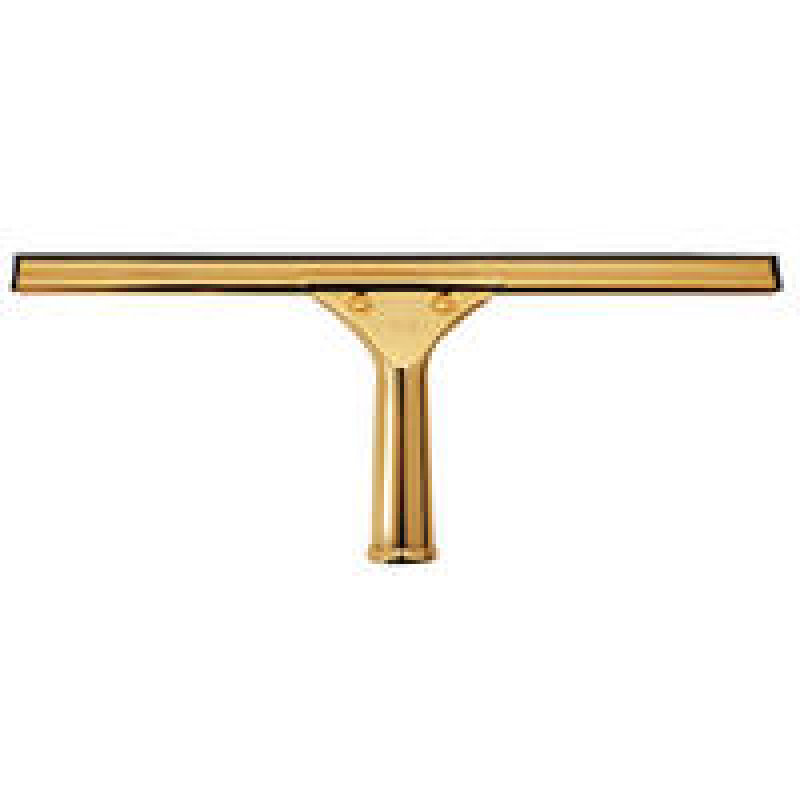 Image of Contico 18 Inch Brass Window Squeegee Complete