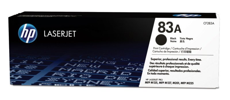 HP 83A Black LaserJet Toner Cartridge - CF283A
