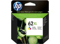 HP 62XL Tri-Colour	Original Ink Cartridge - High Yield 415 Pages - C2P07AE