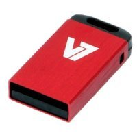 32GB V7 USB 2.0 Nano Flash Drive (Red)