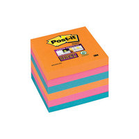 Postit Ss Col Notes Glow 76x76mm Ast Pk6