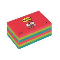 Post-it notes Super Sticky 76 x 127mm Bora Bora Pack of 6
