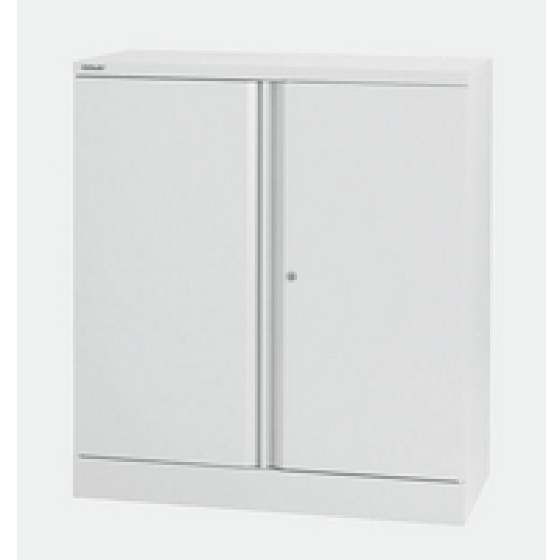 Image of Bisley 2 Door Stationery Cupboard Chalk White 1 Shelf