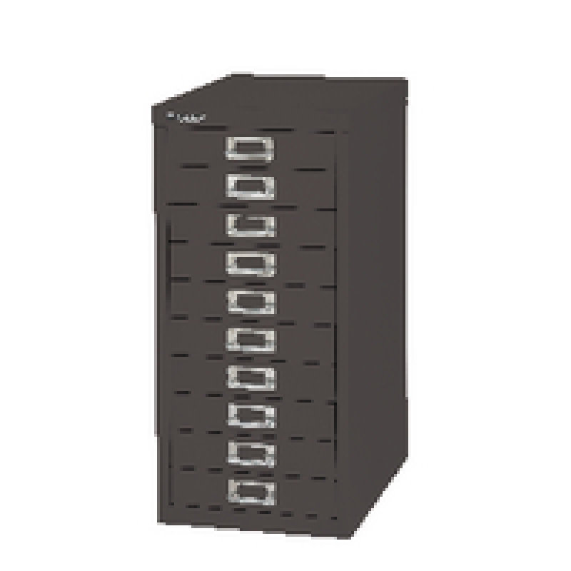 Bisley Non-Locking Multi-Drawer Cabinet 10 Drawer Black