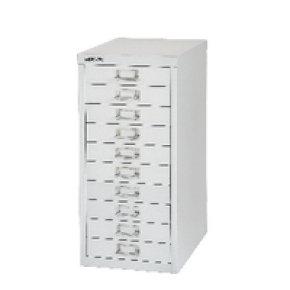 Bisley Non-Locking Multi-Drawer Cabinet 10 Drawer Silver