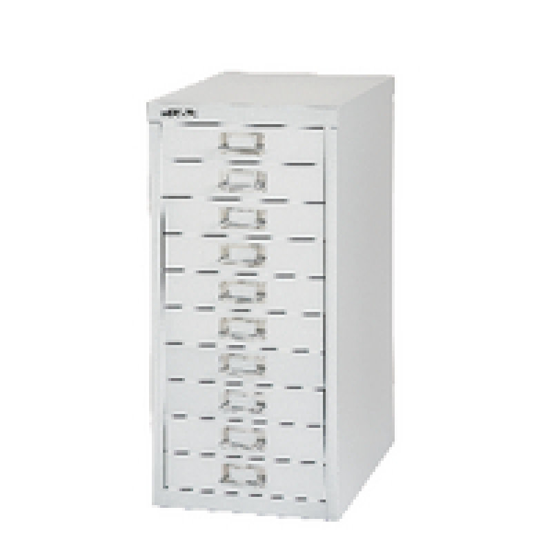 Bisley Non-Locking Multi-Drawer Cabinet 10 Drawer Silver