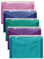 Snopake Polyfile Trio Wallet File Foolscap Assorted (Pack 5)
