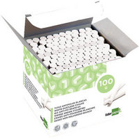 Dustless Chalk White Clear 100 Pieces Bx